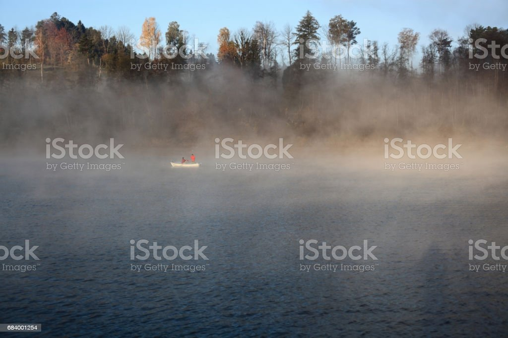 Lake in Bieszczady Mountains stock photo