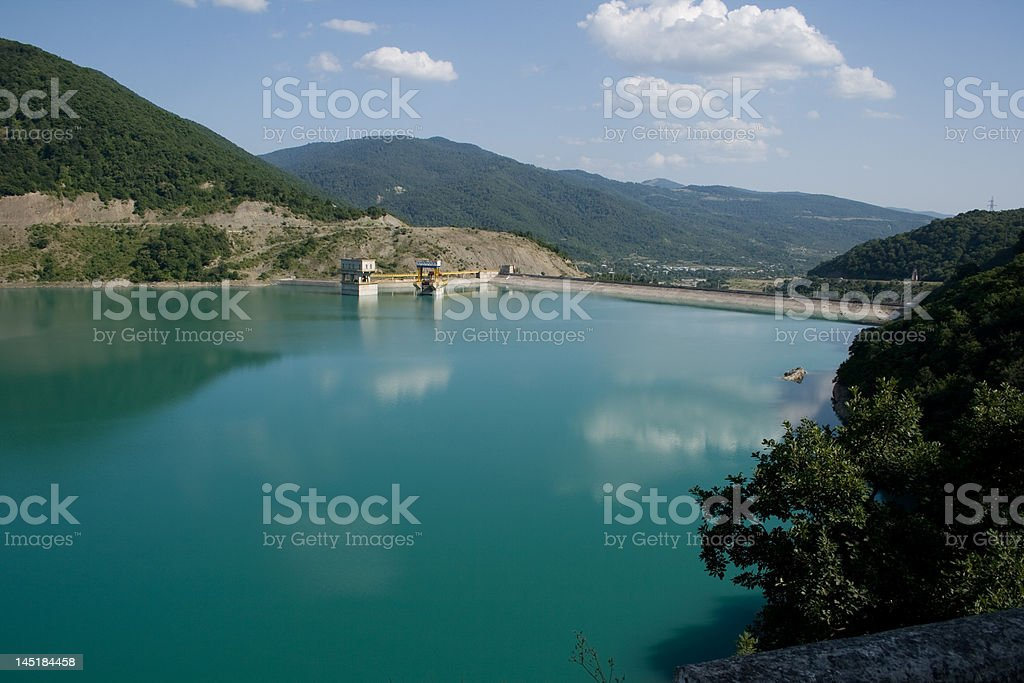Lake in Caucasus mountains royalty-free stock photo
