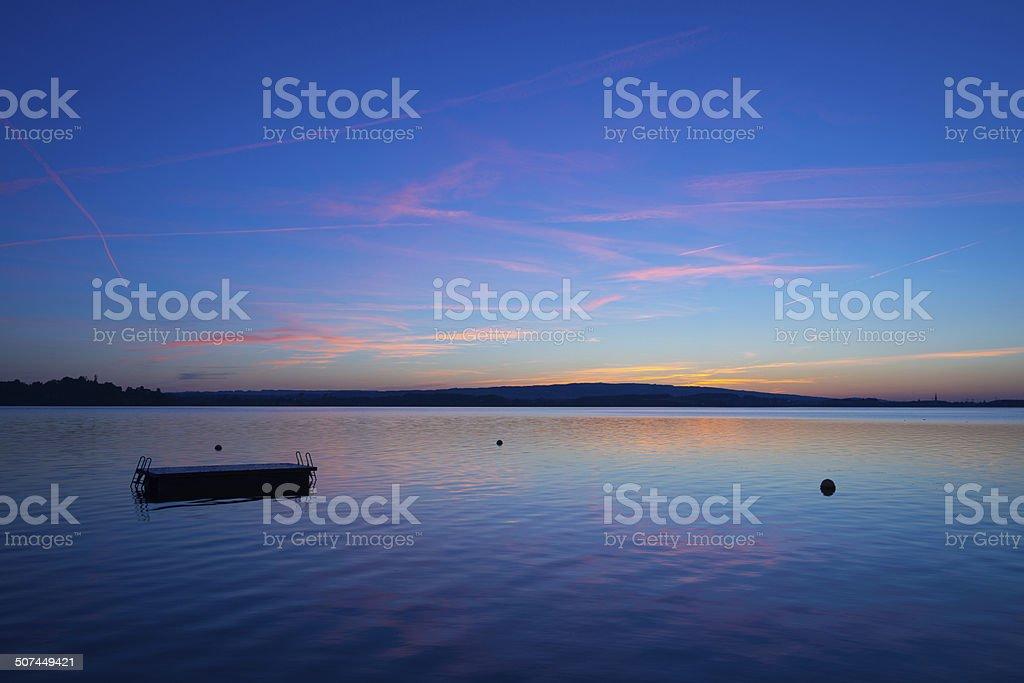 Lake in central Switzerland stock photo