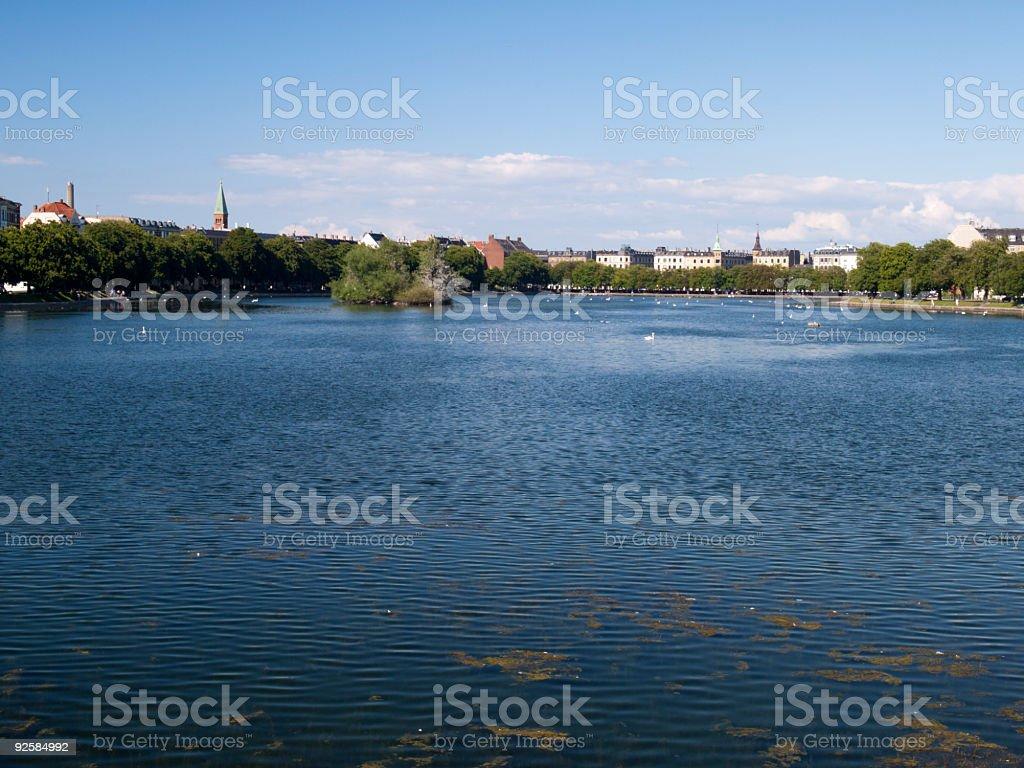 Lake in Copenhagen, Denmark royalty-free stock photo