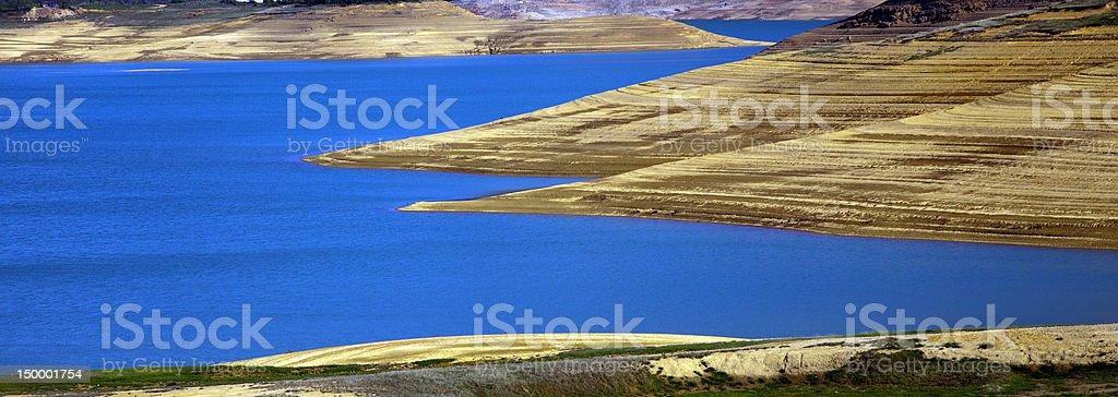 Lake in desert royalty-free stock photo