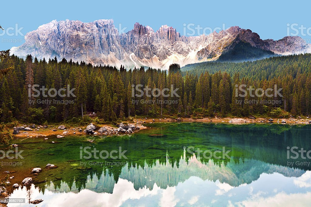 lake in Dolomites royalty-free stock photo