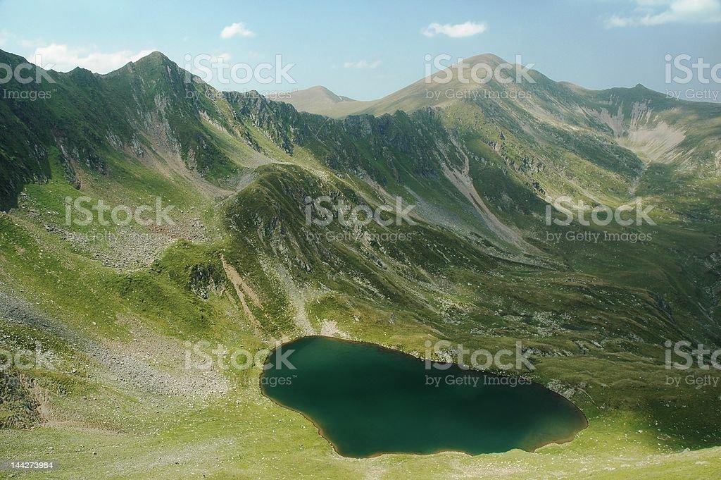 lake in Fagaras mountains royalty-free stock photo