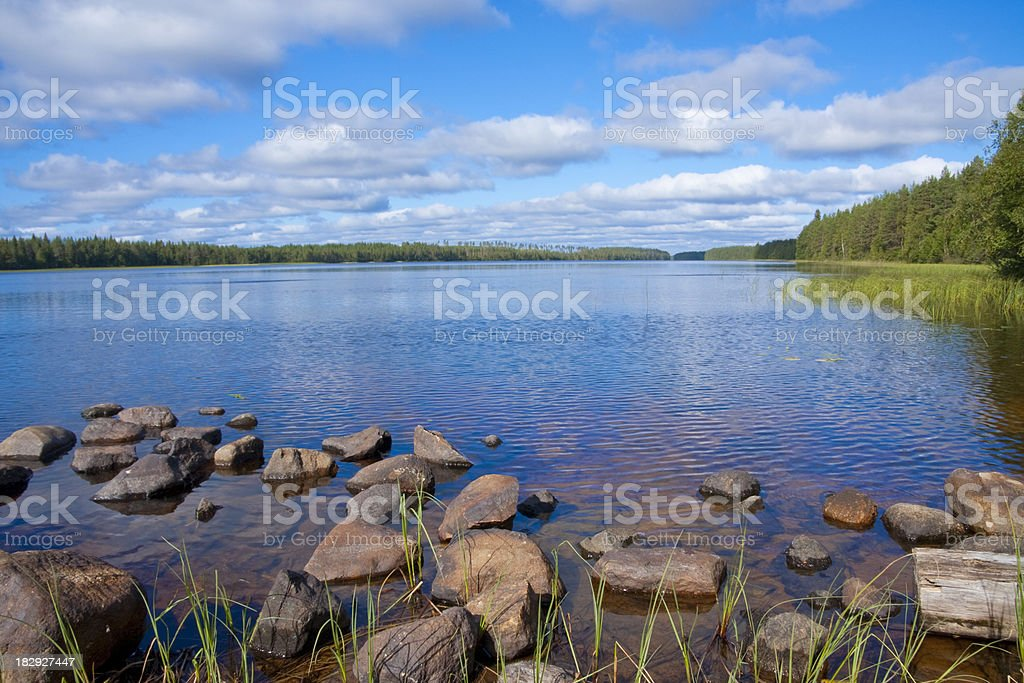 Lake in Finland royalty-free stock photo