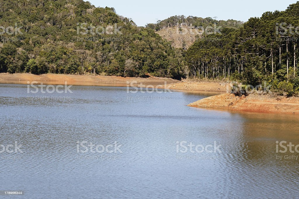Lake in Florianopolis stock photo