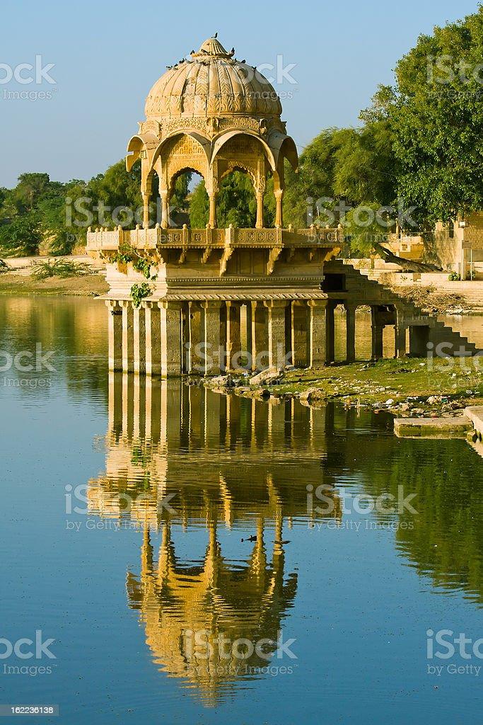 Lake in Gadi Sagar Gate, India royalty-free stock photo