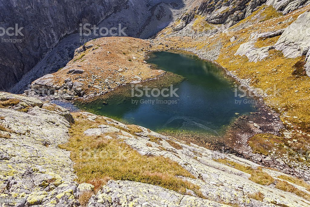 Lake in High Tatra Mountains royalty-free stock photo