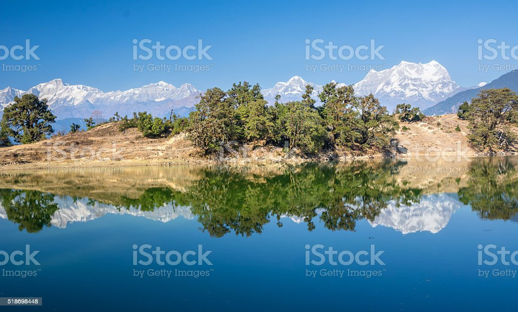lake in Himalaya stock photo