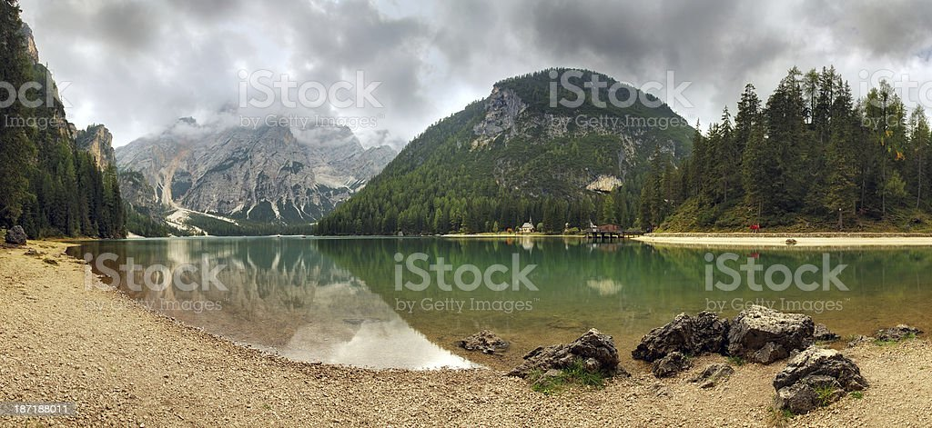 Lake in Italy mountain royalty-free stock photo