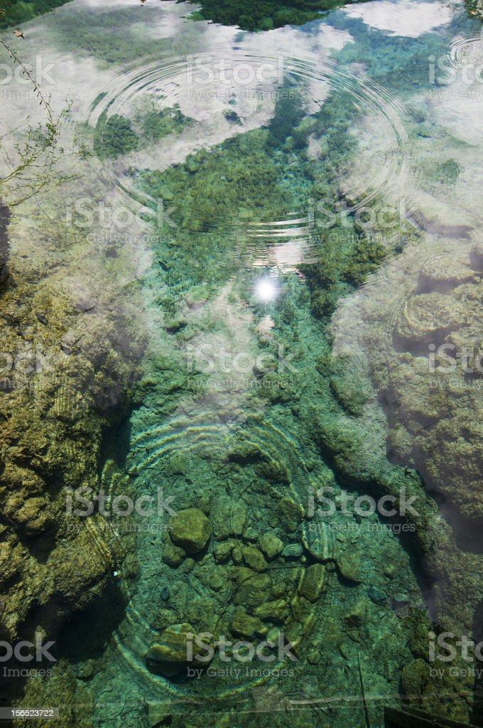 Lake in Jiuzhai, Sichuan royalty-free stock photo