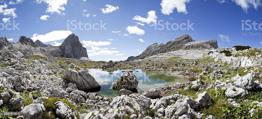 Lake in Julian Alps royalty-free stock photo