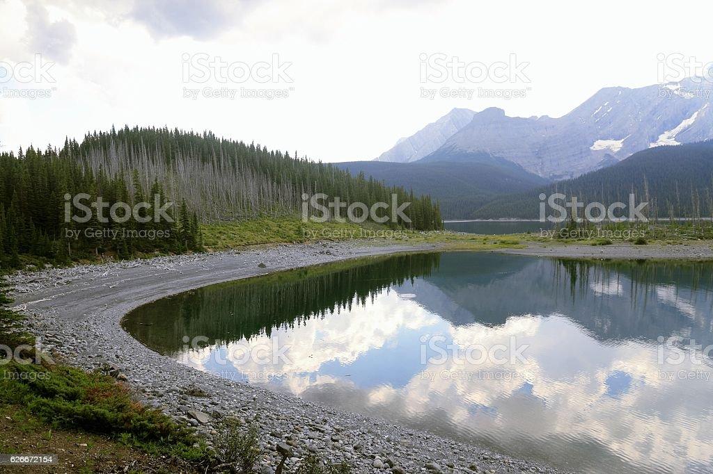 Lake in Kananaskis Country - Alberta - Canada stock photo