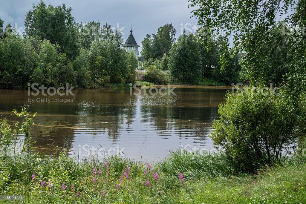 Lake in Karelia stock photo