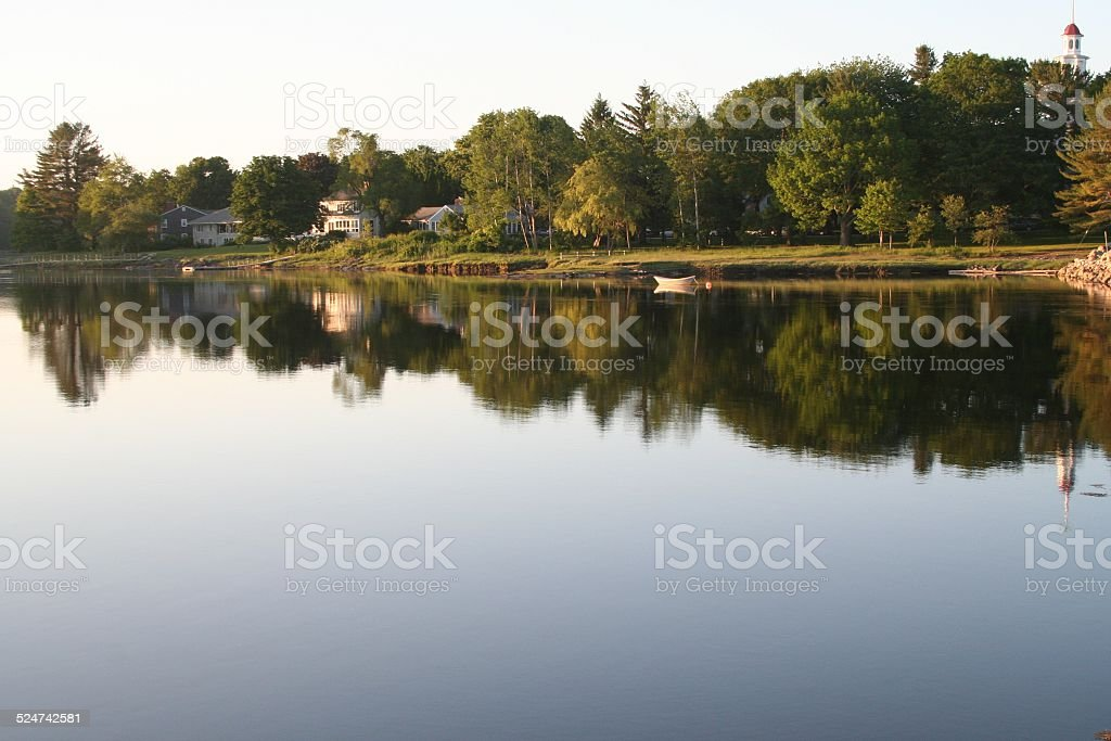 Lake in Kennebunkport, Maine stock photo