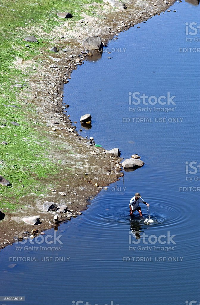 Lake in Magetan stock photo