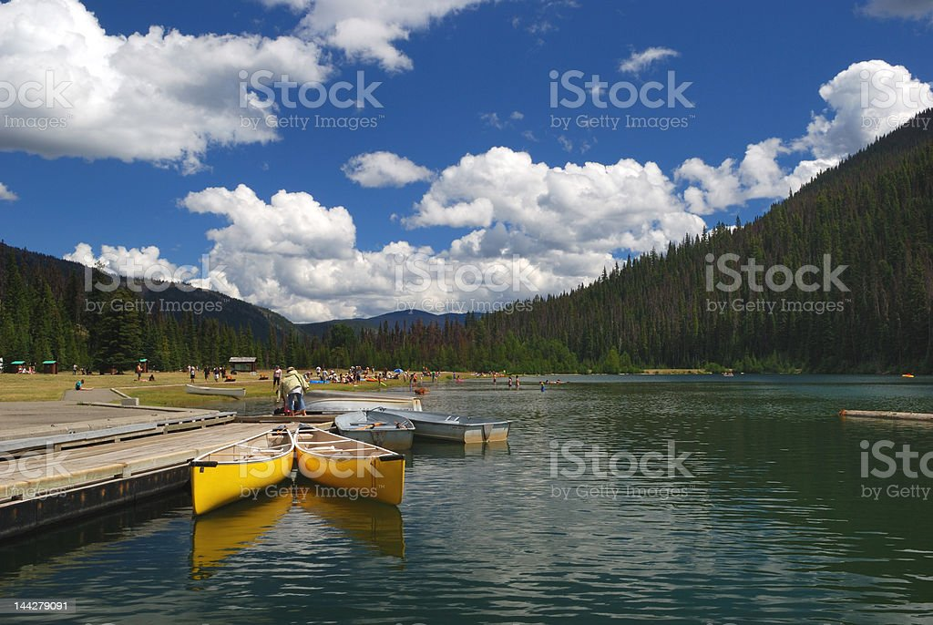 lake in manning provincial park stock photo