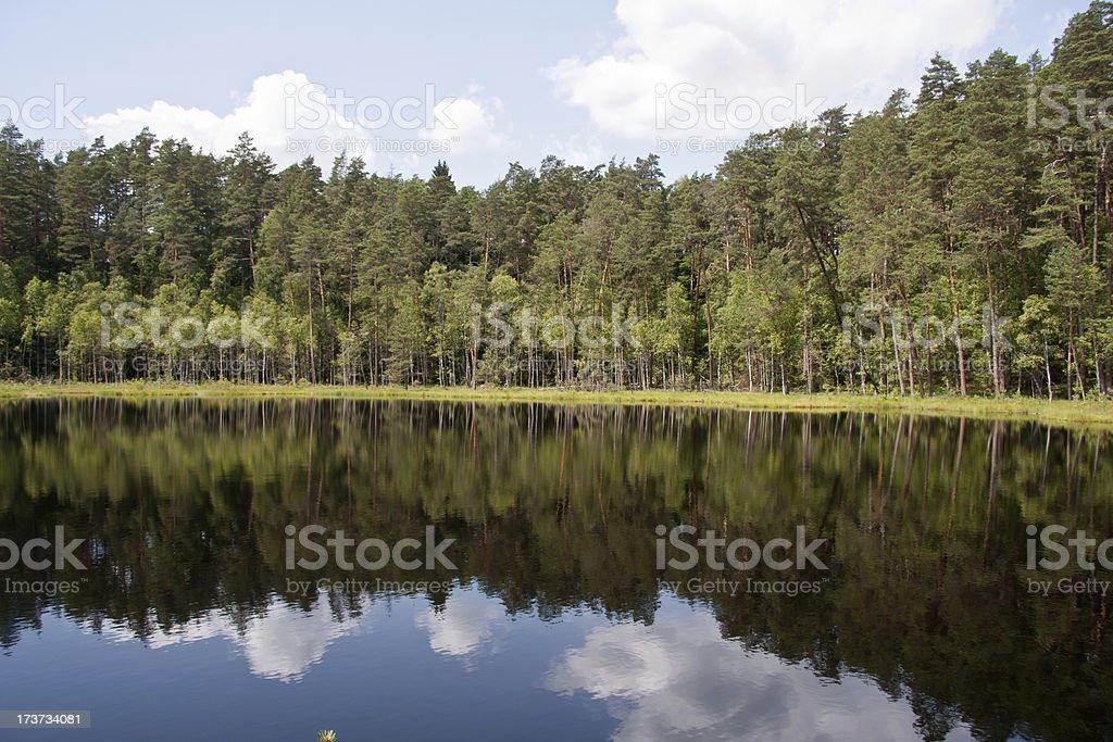 lake in Mazury stock photo