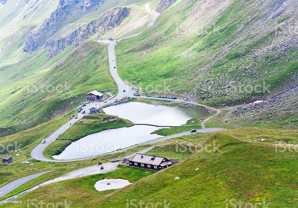 lake in mountain stock photo