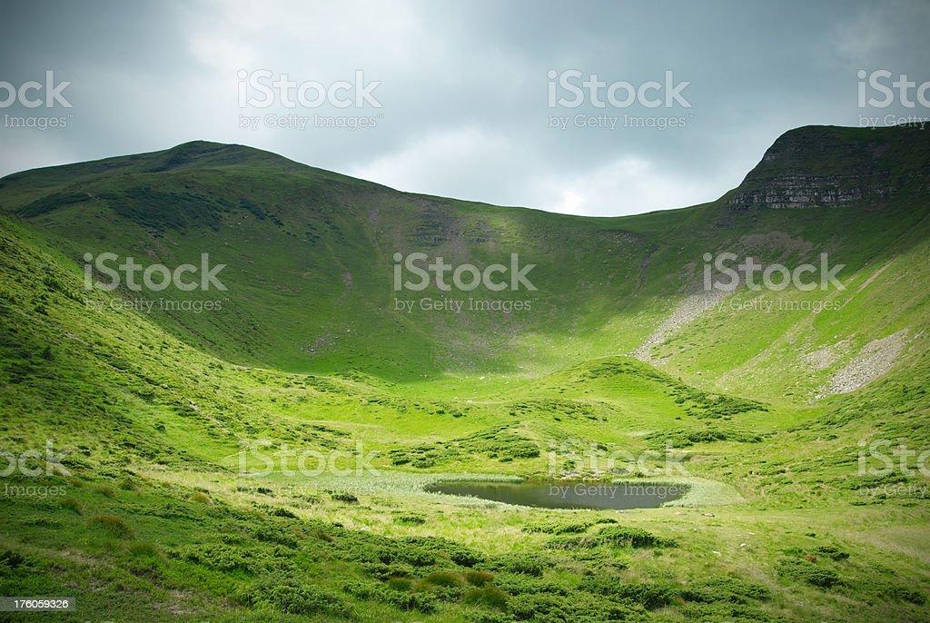 lake in mountains royalty-free stock photo