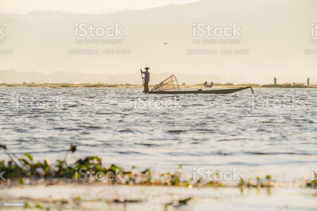 lake in Myanmar (Burma) stock photo