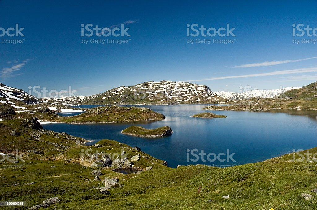 Lake in Norway royalty-free stock photo