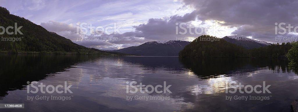Lake in Norway royalty-free stock photo