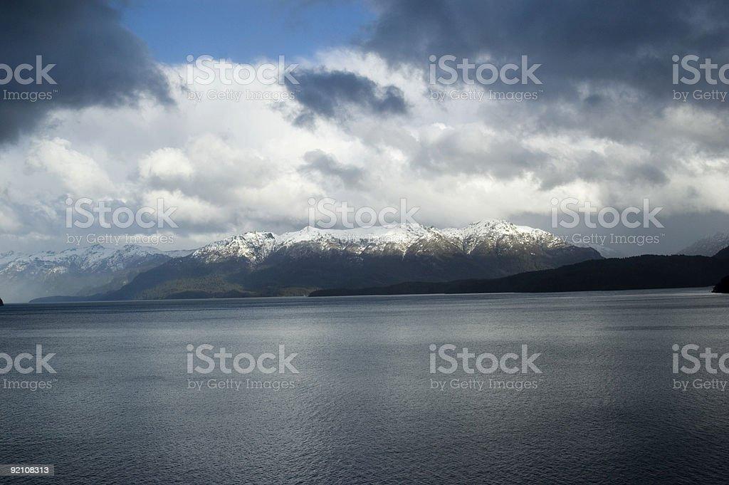 Lake in Patagonia stock photo