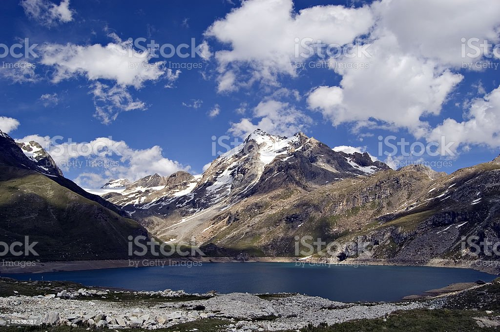 Lake in savoie. France royalty-free stock photo