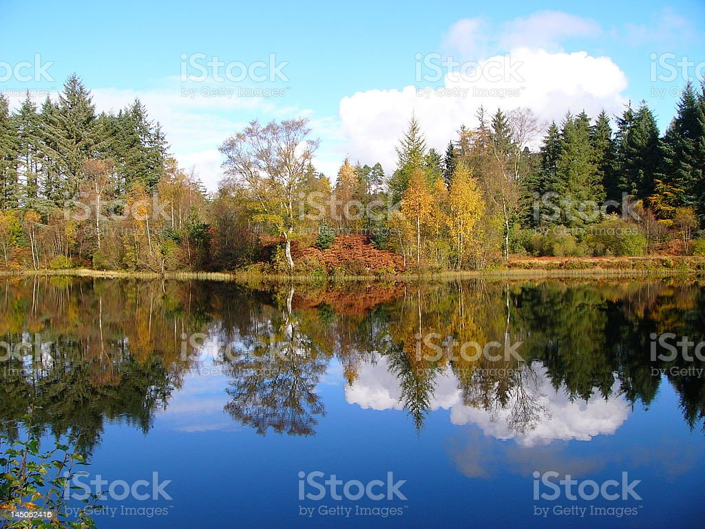 Lake in Scotland royalty-free stock photo