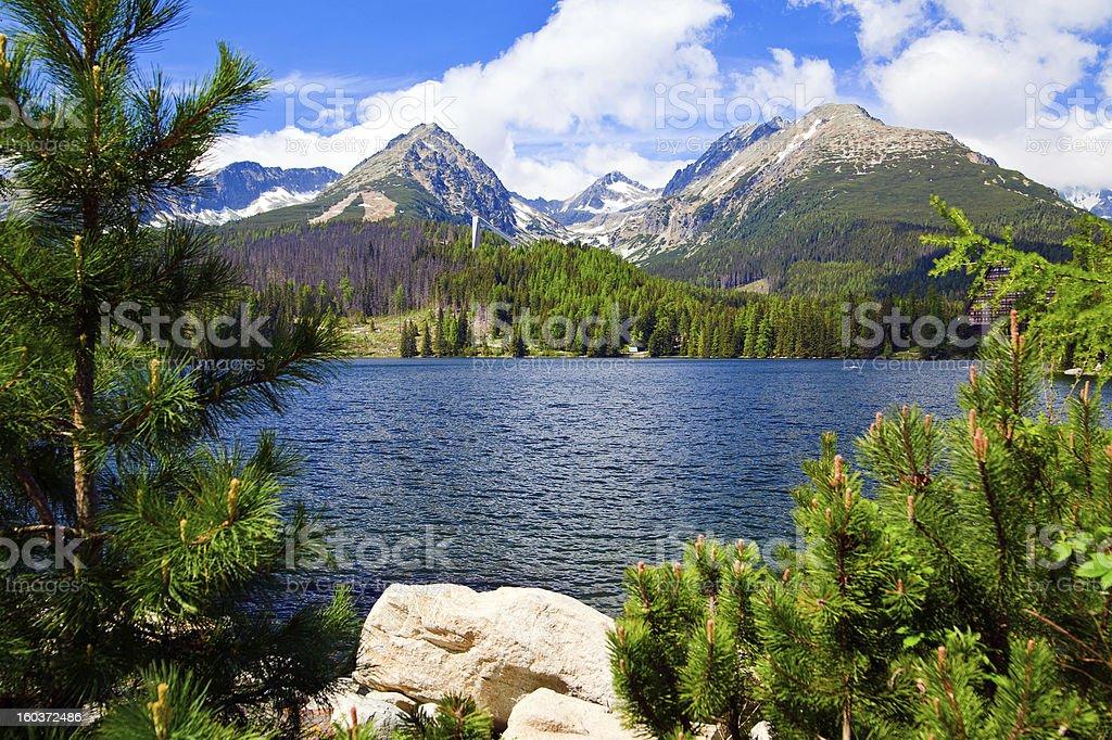 Lake in Slovakia royalty-free stock photo