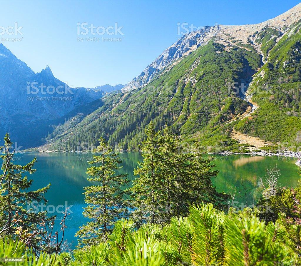 Lake in Tatra Mountains royalty-free stock photo