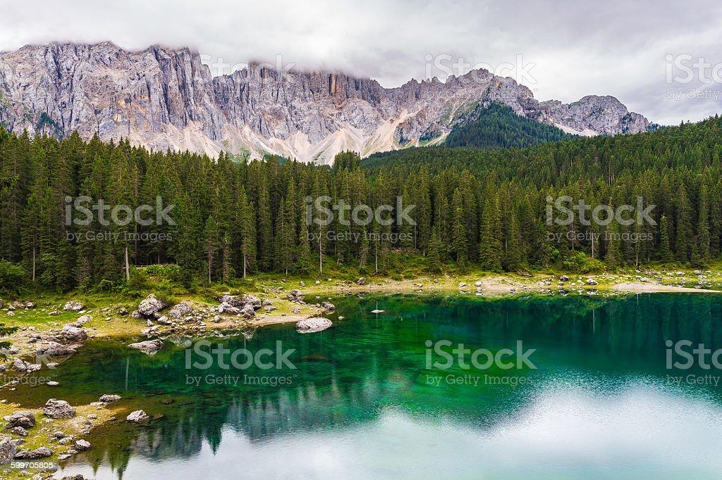 lake in the Alps stock photo