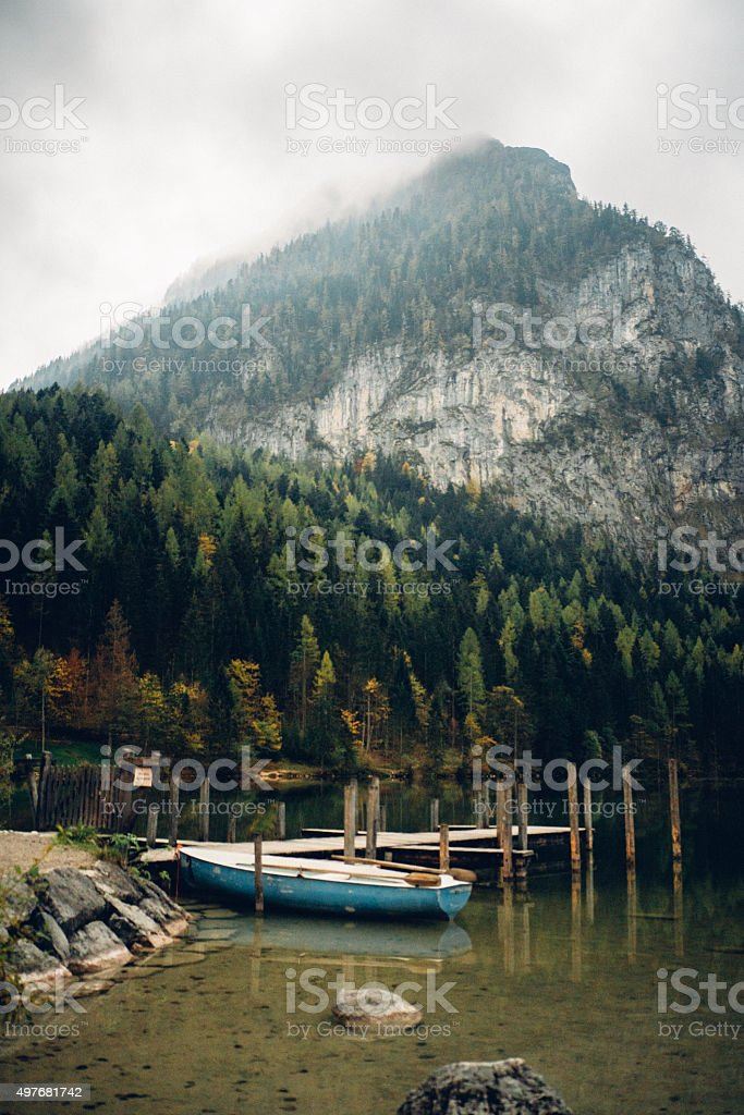 Lake in the Austrian Alps stock photo