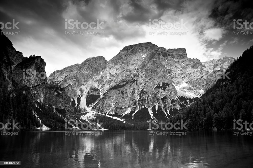 Lake in the Dolomites royalty-free stock photo