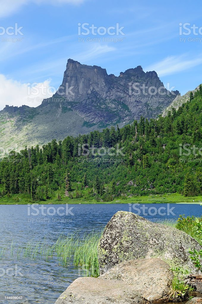 Lake in the mountains . stock photo