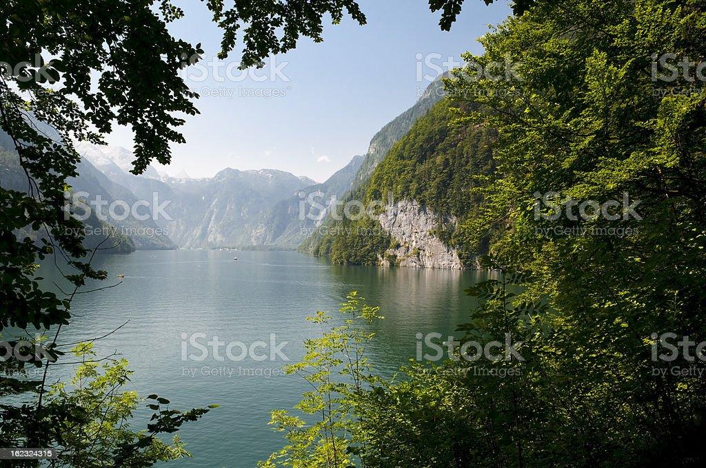 Lake in the mountains stock photo
