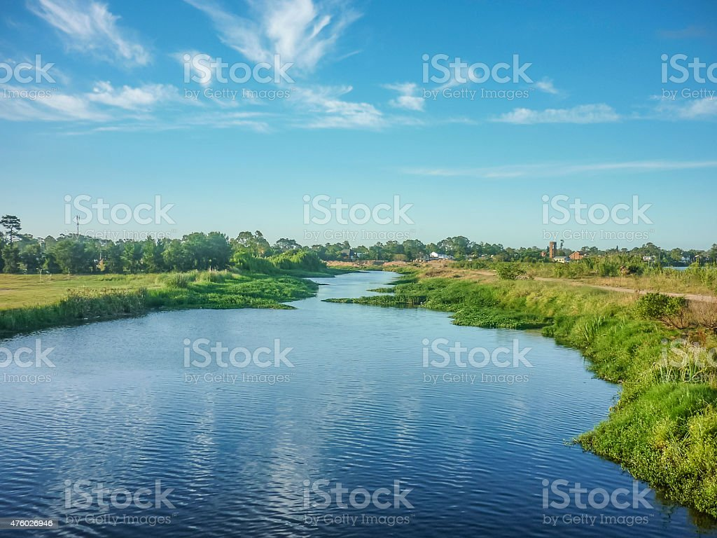 Lake in the Outsides of Montevideo stock photo
