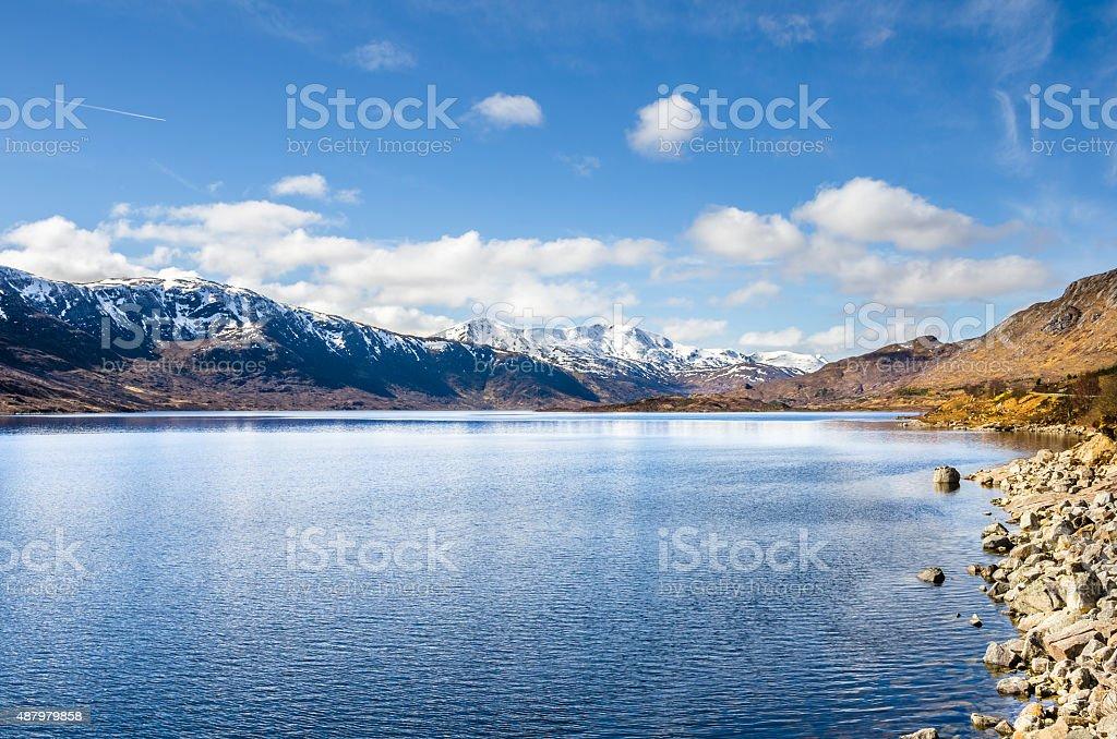Lake in the Scottish Highlands stock photo