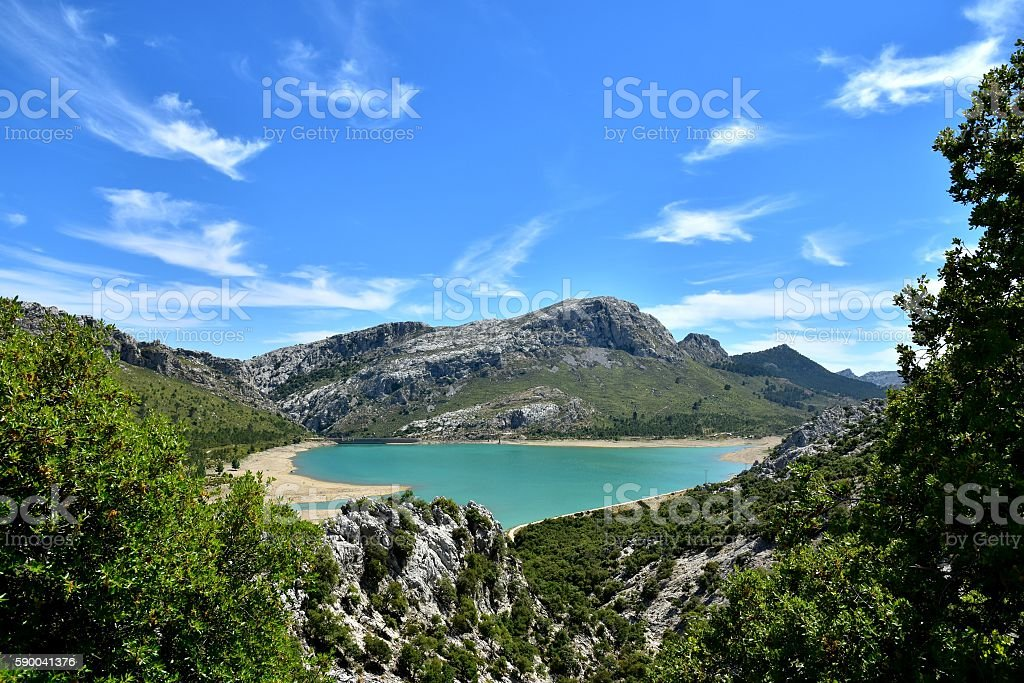 Lake In The Sierra De Tramuntana stock photo