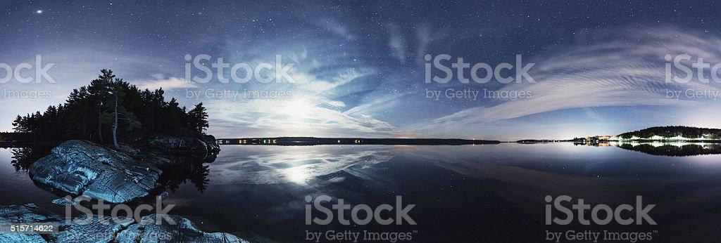Lake in the Sky stock photo