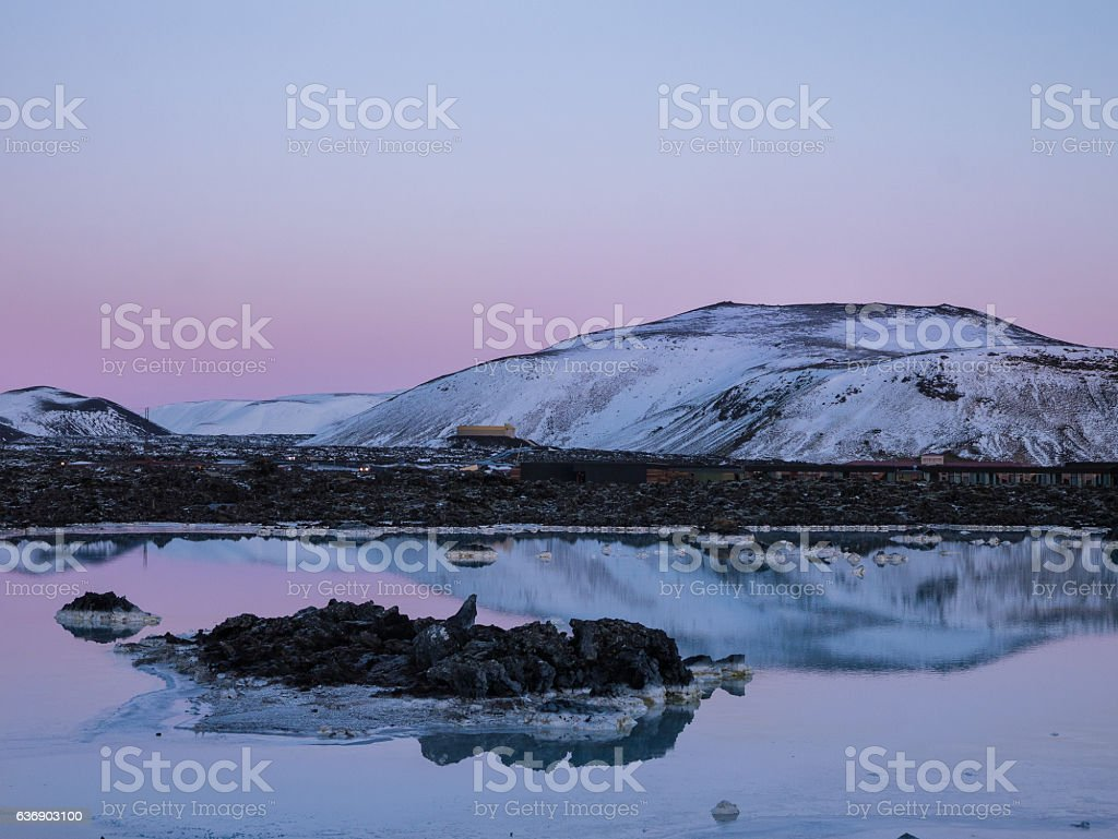 Lake in the Winter of Iceland stock photo