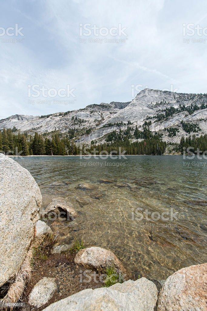 Lake in Yosemite National Park stock photo