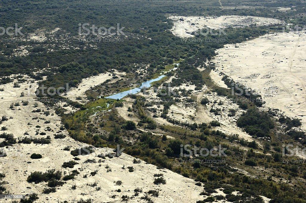 Lake inmiddle the desert stock photo