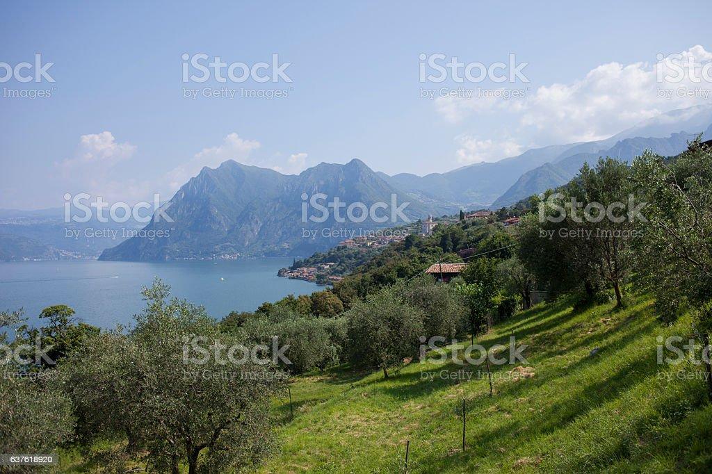 Lake Iseo stock photo