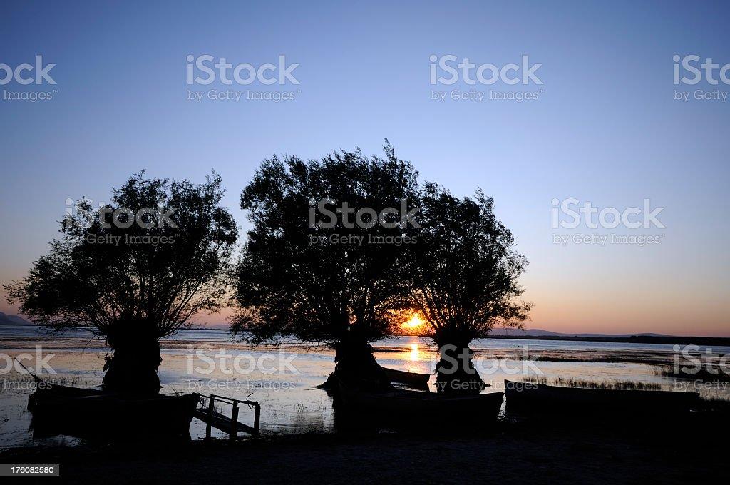 Lake Isikli stock photo
