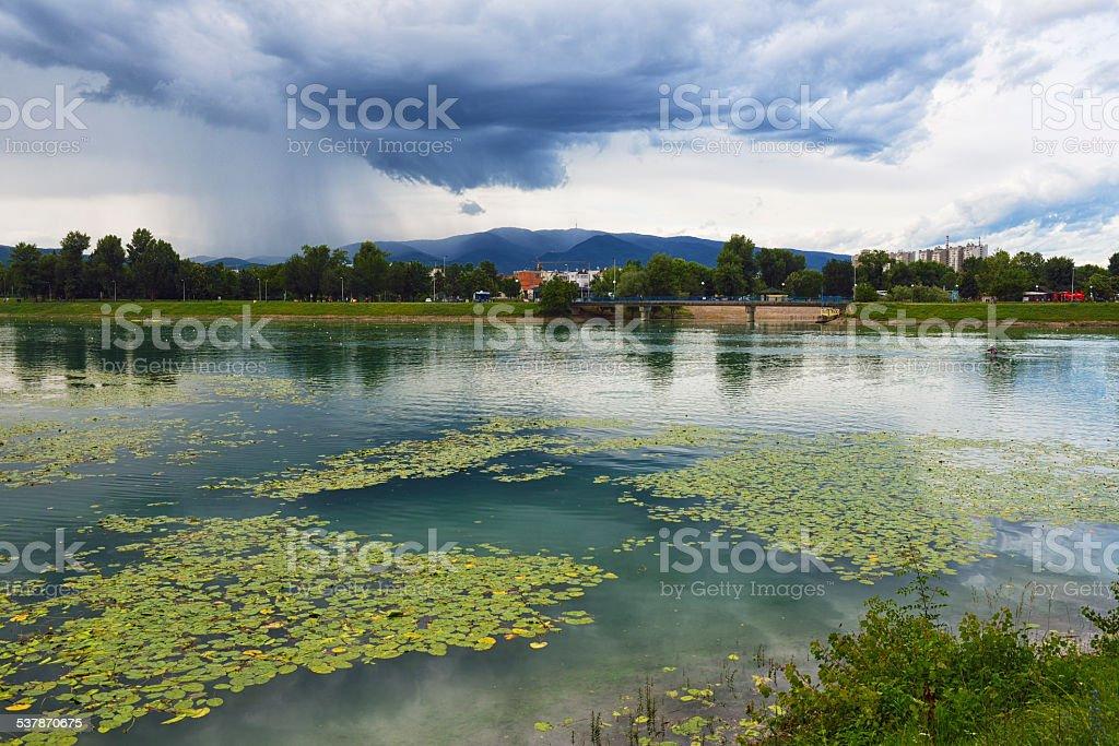 Lake Jarun, Zagreb stock photo