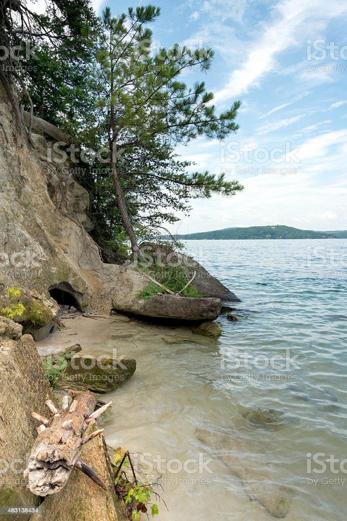 Lake Jocassee shoreline stock photo