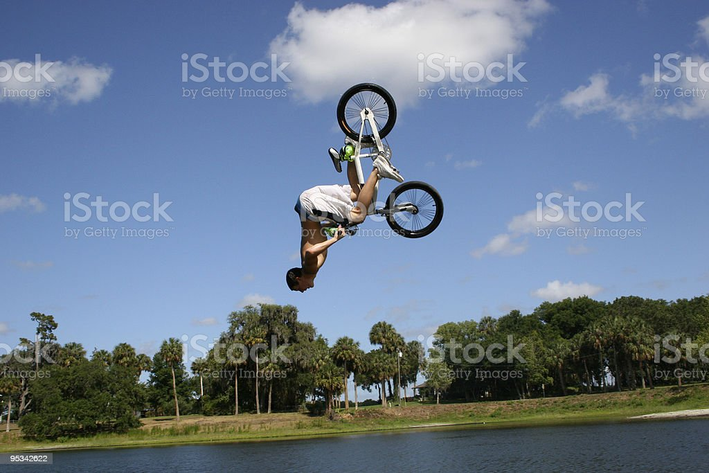 Lake Jump royalty-free stock photo