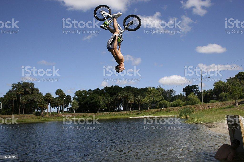 Lake Jump royalty-free stock photo