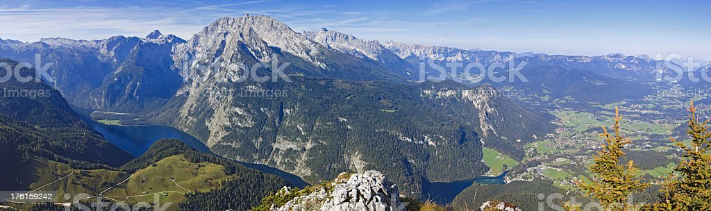 Lake Königssee with Watzmann mountains XXXL stock photo